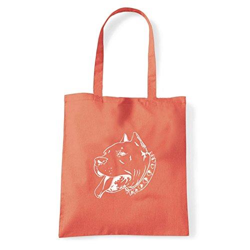 Art T-shirt, Borsa Shoulder pitbull Corallo