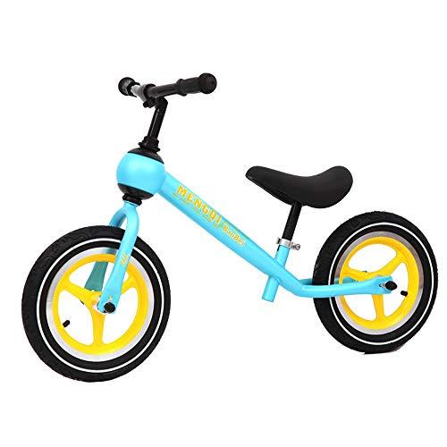 Prima Bicicletta Kids Balance Bike 12 pollici Classic Leggero No-Pedal Bambini a piedi Bicicletta con altezza regolabile sedile e maniglia per bambini Ragazzi e ragazze Età 2-5 Kids Bullet Bike