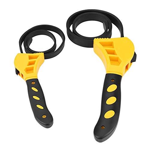 GXMZL Gummibandschlüssel, 2 Stück Multifunktions Einstellbare Gummibügel Ölfilterschlüssel Adjustable Spanner Flaschenöffner Werkzeug