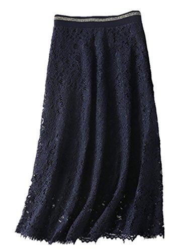 Sexy Lace Skirt Shady High Waist Stretch Skirt Elegant Baumwolle Party Skort Formell Short Dress Vintage Retro Rock (Skort Stretch-baumwolle)