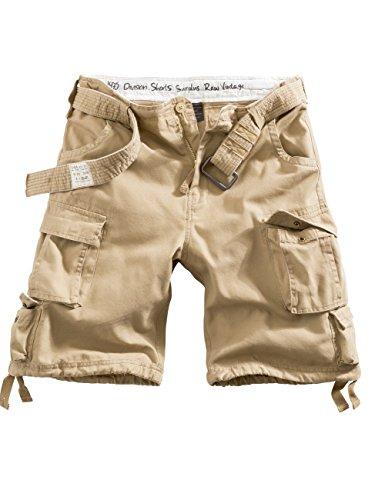 Delta Division Vintage Herren Cargo Shorts Beige