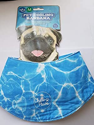 Pet Cooling Bandana MEDIUM (blue) from China