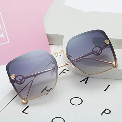 ERKEJI Lady Sonnenbrillen Damen quadratische Sonnenbrille Frameless Hollow Arms Ocean Piece Mode Sonnenbrillen Sun Mirro