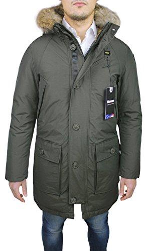 Blauer parka uomo 16wbluk03072 giaccone invernale lungo verde neve imbottito in piuma (xl)