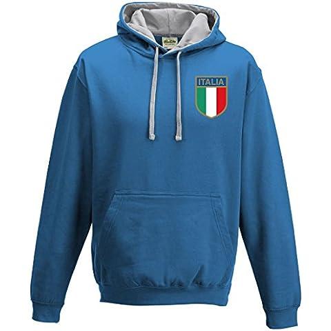 Rugby-Felpa con cappuccio da uomo, nazionale italiana stile