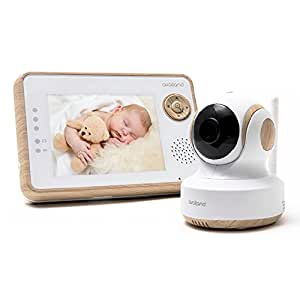 """Availand Follow Baby""""Wooden Edition"""" - Baby monitor con telecamera motorizzata: segue automaticamente i movimenti del bebè"""