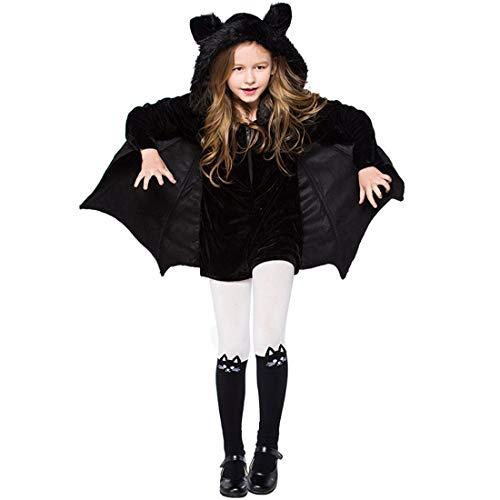 Erwachsene Für Kostüm Gemütliche Fledermaus - GJ688 Kinder Halloween Kostüm Cosplay Vampir Fledermaus Kostüm Mit Kapuze Mantel Süßes Kleid Geeignet für Erwachsene und Kinder,XXXL