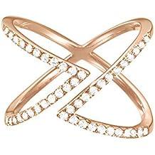 ESPRIT Damen-Ring 925 Silber rhodiniert Zirkonia weiß