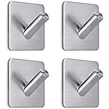 FOTYRIG ganchos de pared adhesivos perchas de acero inoxidable resistente para baño correa de perro de