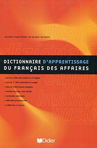 Dictionnaire d'apprentissage du français des affaires