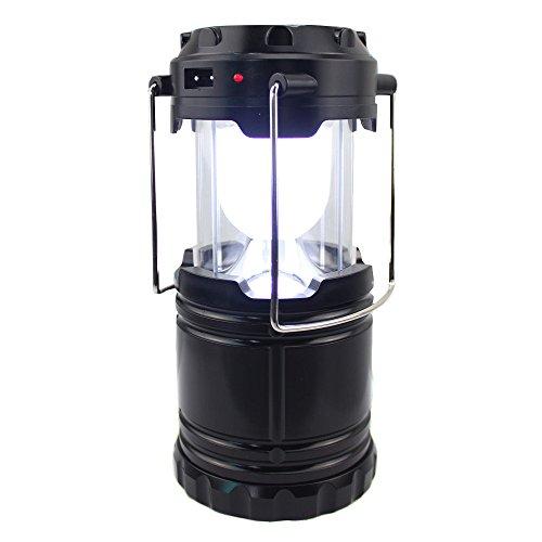 Mondpalast @ LED Campinglampe Camping Laterne zusammenklappbar tragbare Taschenlampe Solar-Camping-Beleuchtung für Wandern, Camping, Notfall, Ausfälle, Nachtlicht, Gartenlaterne, Angeln, Hurricanes, Notfallstromausfall , Außen- und Innenbereich