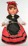 Folk Artesanía Muñeca 25 cm colección Modelo Gallega o Asturiana, Nueva y Original.