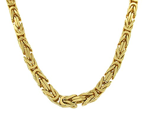 ublé 11 mm 55 cm Halskette Goldkette Herren-Kette Damen Geschenk Schmuck ab Fabrik Italien tendenze BZGY11-55v ()
