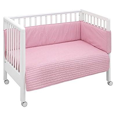 Cambrass Bouti Denim - Juego de colcha y protector, color rosa