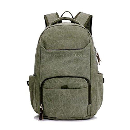 Rucksack 50L High Capacity Laptop Tasche Retro Leinwand Student Sport Outdoor Rucksack ArmyGreen