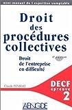 Telecharger Livres DECF EPREUVE N 2 DROIT DES PROCEDURES COLLECTIVE 4eme edition (PDF,EPUB,MOBI) gratuits en Francaise