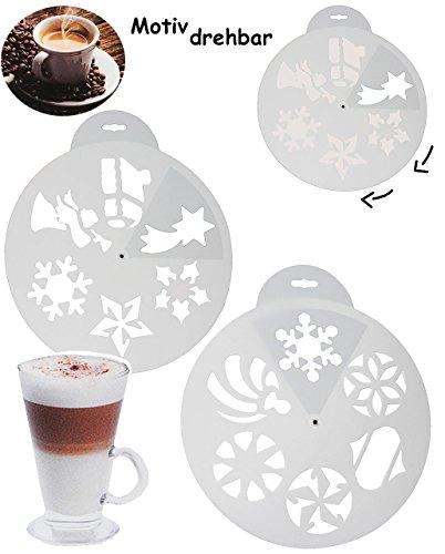 alles-meine.de GmbH 6 Stück _ Schablonen Vorlage - Kuchen / Kekse / Cappuccino -  Weihnachts & WI..