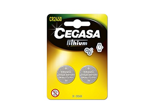 CEGASA CR2450 - Pack 2 pilas botón litio