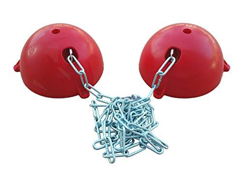 netproshop Stall Zubehör Gewa Deckenhalter Flexibel durch Kette bis ca 1,45 Meter Breite, Farbe:Rot