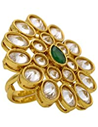 BEAUTIFUL ANTIQUE GOLD PLATED BIG FASHIONABLE FINGER RINGS RING206