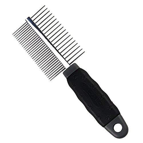Petfu Hundekamm, Rostfreier Stahl Beidseitig Katzenbürste Tolles Grooming Tool zum Bürsten von Deshedding Lice Hundeflohkamm
