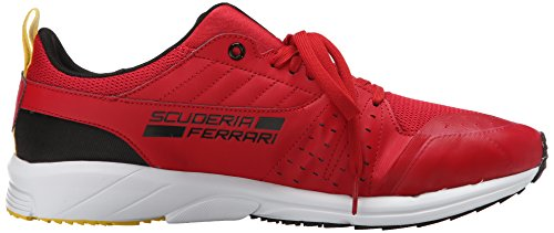 Puma Pitlane Ferrari Night Cat Lace-up Fashion Sneaker Rosso Corsa/Black