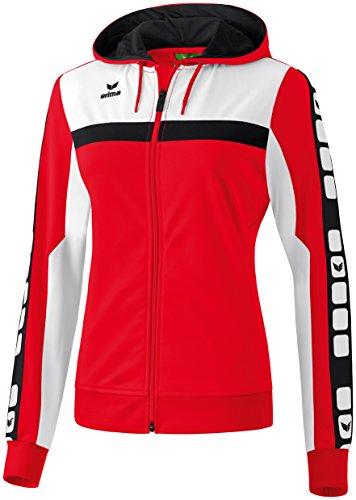 CLASSIC 5-CUBES Trainingsjacke mit Kapuze Rot/Weiß/Schwarz