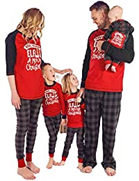 BenCreative Men's Family Christmas Pajamas Matching 2Pcs Set Mom Letter Print Tops Blouse Long Pants Family Pajamas Sleepsuit Set