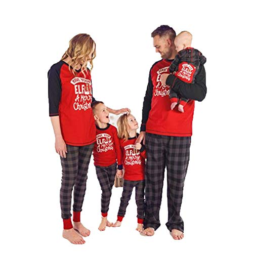 Familie Weihnachten Pyjamas Matching 2PCS Set Frauen Mom Brief Print Tops Bluse Lange Hosen Familie Pyjamas Sleepsuit Set mom L