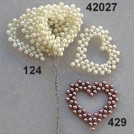 Escofina serie Bead corazón novedad decoración, champán, 35x 32mm