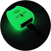Llave Móvil og para 3 botones llave de coche silicona Cover de Finest de Folia fluorescente
