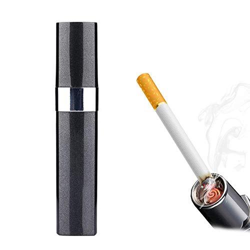 Encendedor Recargable USB, Lápiz Labial Vacío En Forma Encendedor De Cigarrillos Butano De Lovely Lady, Encendedor Sin Llamas Encendedor De Cigarrillos Eletric Mini A Prueba De Viento