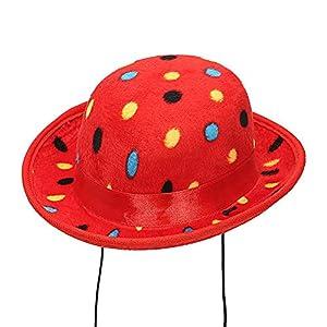 WIDMANN Srl Mini minibomba Payaso Rosa lunares de Terciopelo sombreros, y solideos para Adultos polos, Multicolor, wdm68573