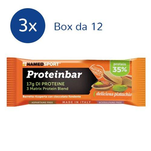 3x Box Namedsport Proteinbar 12x50g. (GUSTO: PISTACCHIO) - 416KIcPChrL