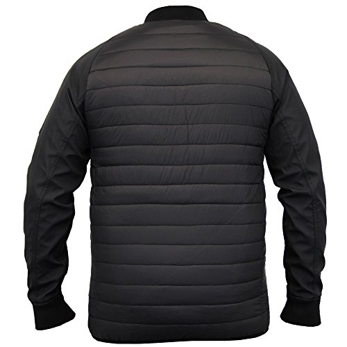 Veste Pour Hommes Threadbare MA1 Manteau Matelassé Style Baseball rembourré Doublé Hiver Neuf Noir - DMV092PKA