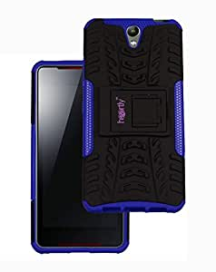 Heartly Lenovo Vibe S1 Back Cover Kick Stand Rugged Shockproof Tough Hybrid Armor Dual Layer Bumper Case - Frame Purple