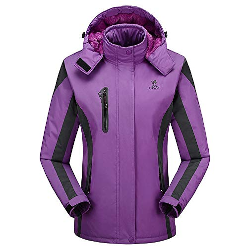 TianWlio Damen Mäntel Frauen Winter im Freien Kaschmir Verdickender Hoodie Sport Hat Abnehmbarer Mantel