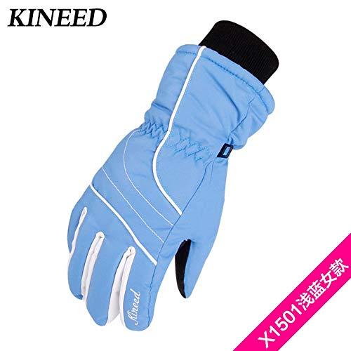 Huore Winter Warme Handschuhe Damen Skihandschuhe rutschfeste Winterhandschuhe Damen Herbst Und Winter Mode Schön, Hellblau, Einheitsgröße