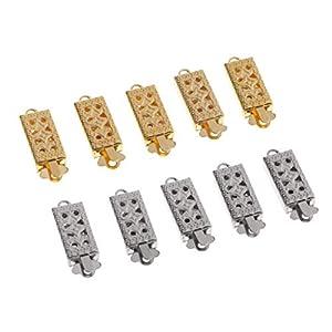 10 er Pack Kupfer Verschluss Kettenverschluss Schmuckverschluss für Armband Halskette