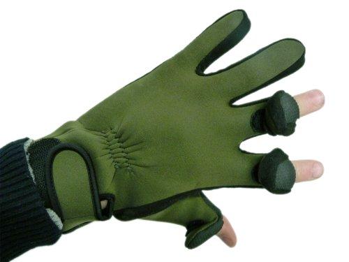 Premium Neopren Angler Handschuhe, Klapp Finger Tips 766561