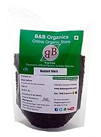 B&B Organics Mustard Seeds Black, 200 Grams (Pack of 2)