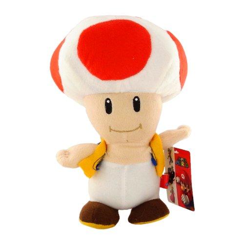 Super Mario Nintendon Plüsch Toad Rot 22 cm (Super Mario Bros Plüsch-wii)