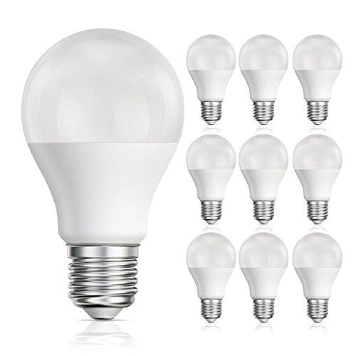 Ss Base (ledscom.de E27 LED Lampe matt A60 10W=60W warm-weiß 800lm A+, 10 STK.)