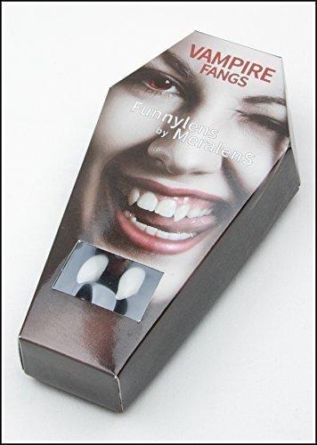 Meralens Vampirzähne Blood Sucker wiederverwendbar mit Abformmasse (Thermoplastik) - perfekter Halt durch individuelle Anpassung (Fake-zähne Mit Kleber)