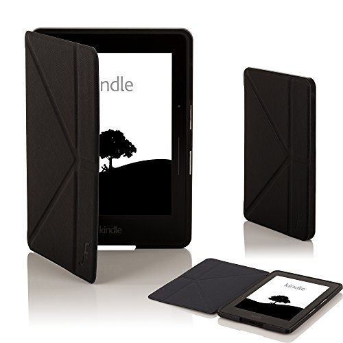 Forefront Cases® New Origami Case Cover for Amazon Kindle Voyage (November 2014) – Full device protection with PU Leather and Smart Auto Sleep Wake function with 3 YEAR FOREFRONT CASES WARRANTY