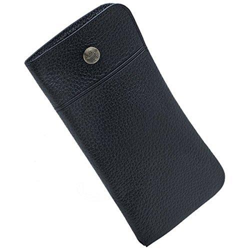 Schlüsselanhängerform Slip Case aus Leder, Farbe: Schwarz, Made in Japan
