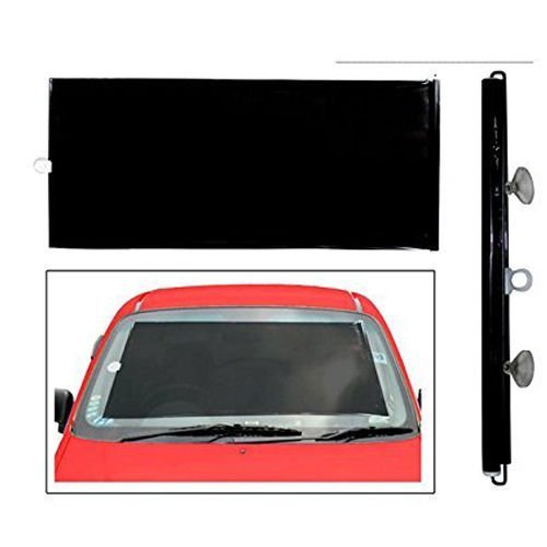 Ramanta Universal Fit Car Retractable Hand Pull Front Window Roller Windshield Sun Shade for Most car and Maruti Ertiga (42 x 130 cm, Black)