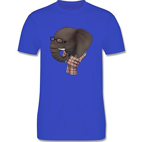 Hipster - Hipster Elefant - Herren Premium T-Shirt Royalblau