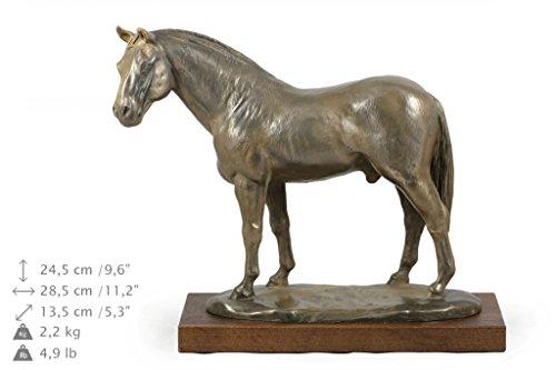 Hannoveraner Pferd, Pferd, Bronze, Statue, Holzsockel, liegend, Limitierte Edition, Art Dog