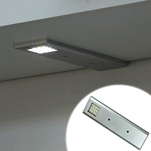 LED Küche Schranklampe Badeleuchte Möbelleuchte Aluminium Warmweiss NEO 1.2W 90lm! 230V 12V